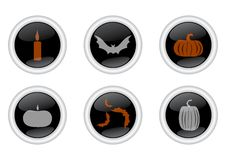 A Set Of Icons For Halloween Stock Photography
