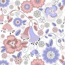 Seamless Pastel Floral Pattern Royalty Free Stock Photo