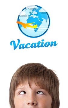Free Young Head Looking At Vacation Type Of Sign Royalty Free Stock Photo - 21420995
