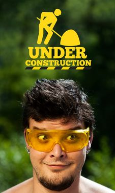 Free Young Head Looking At Contruction Icons Stock Images - 21421094