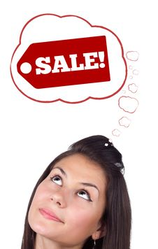 Free Young Head Looking At Shipping And Order Signs Royalty Free Stock Photo - 21421125