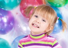 Free Girl With Balloons Stock Photos - 21424493