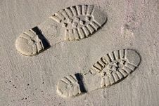 Free Sand Steps Royalty Free Stock Photo - 21425735
