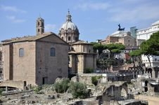 Rome Ruins And Church Stock Photos