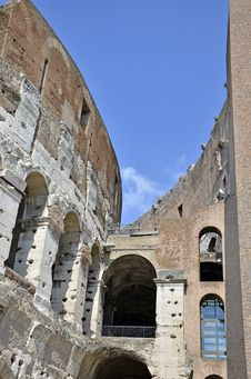 Colosseum Side Gate Royalty Free Stock Photo