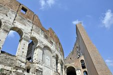 Colosseum Detail Royalty Free Stock Photography
