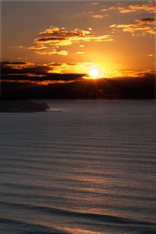Sunrise At The Black Sea Coast. Stock Photography