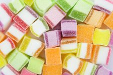 Colorful Jelly Candy Background Stock Images