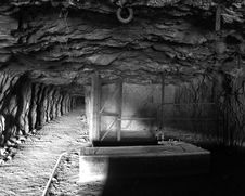Mine Tunnel Stock Image