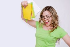 Free Attractive Girl With A Notebook Stock Photography - 21429892