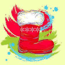 Free Santa Boot Royalty Free Stock Photos - 21430338