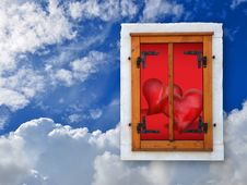 Free Love Hearts In The Sky Royalty Free Stock Photos - 21431458