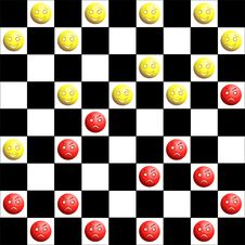 Free Red And Yellow Checkers Stock Image - 21431861
