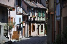 Free Street Scene Alsace Royalty Free Stock Images - 21432229