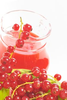 Free Red Currant Drink And Berries Stock Photos - 21432463