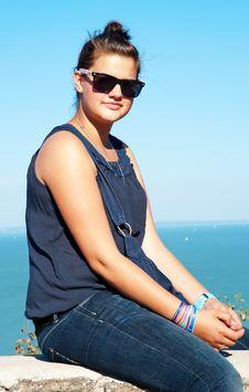 Attractive Teenager At Lake Balaton