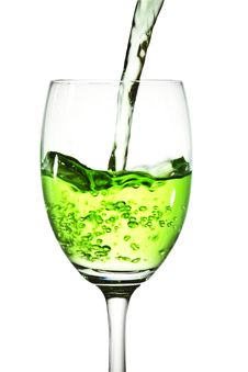 Free Green Cocktail Into Glass Royalty Free Stock Photos - 21435068