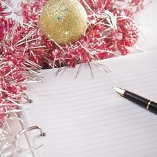 Free Greeting Card And Pencil Royalty Free Stock Photos - 21436288