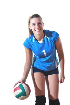 Free Gir Playing Volleyball Royalty Free Stock Photography - 21438557