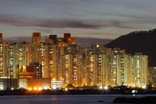 Hong Kong Apartment Blocks Royalty Free Stock Photography