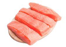 Free Fresh Salmon On Cutting Board Royalty Free Stock Photo - 21439525