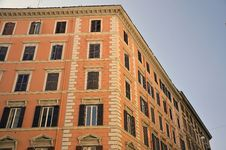 Free Red Building Corner Stock Photography - 21441992