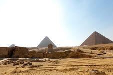 Giza Pyramids, Egypt Stock Photo