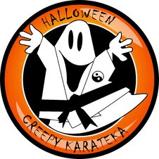 Free Halloween Creepy Karateka Ghost Stock Images - 21442804