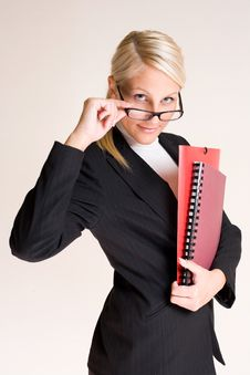 Beautiful Friendly Businesswoman Stock Photography