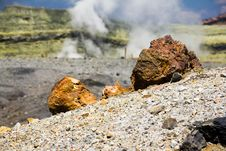 Free Rock On The Sulphur Volcano Stock Photo - 21444190