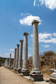 Free Ancient Roman Site In Perge, Turkey Stock Photos - 21444233