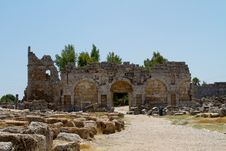 Ancient Roman Site In Perge, Turkey Stock Images