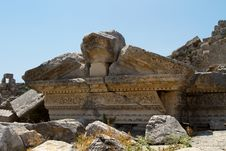 Ancient Roman Site In Perge, Turkey Royalty Free Stock Photo