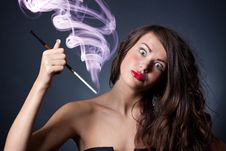 Free Crazy Young Woman Royalty Free Stock Images - 21444689