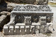 Ancient Roman Site In Perge, Turkey Stock Photography