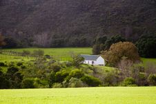 Overberg Farm Landscape With House Royalty Free Stock Images