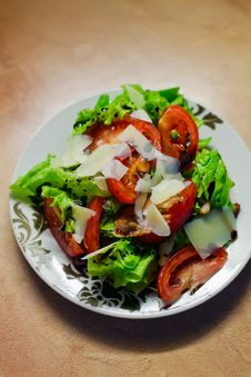 Free Vegetable Salad With Parmesan Stock Images - 21447054