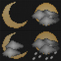 Free Moon Weather LED Screen Royalty Free Stock Photo - 21458155