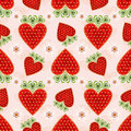 Free Pink Effortless Pattern With Strawberry Stock Photo - 21458250