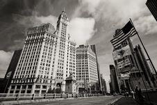 Free Wrigley Building Clock Tower Stock Images - 21450034