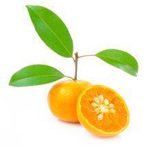 Free Orange Isolated Royalty Free Stock Image - 21450766