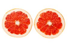 Grapefruit Slices Stock Photography