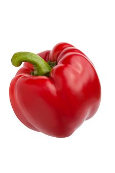 Free Single Red Bell-pepper Royalty Free Stock Image - 21451226