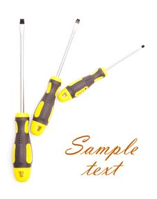 Free Three Screwdrivers With Sample Text Stock Photos - 21451483