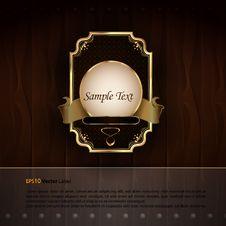 Golden Royal Labels Stock Image