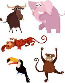 Free Animal Set Royalty Free Stock Photo - 21452905