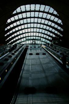 Free Canary Wharf Tube Station Escalators Stock Photos - 21453333