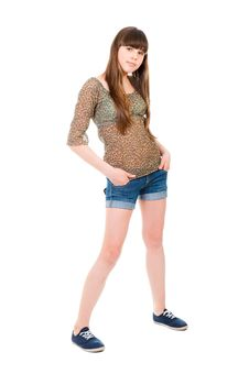 Free Full-length Portrait Of A Teenage Stock Images - 21454924