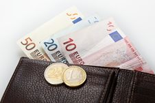 Free Wallet With Euros Royalty Free Stock Photos - 21455168