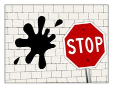 Free Hitting A Brick Wall Stock Image - 21455211